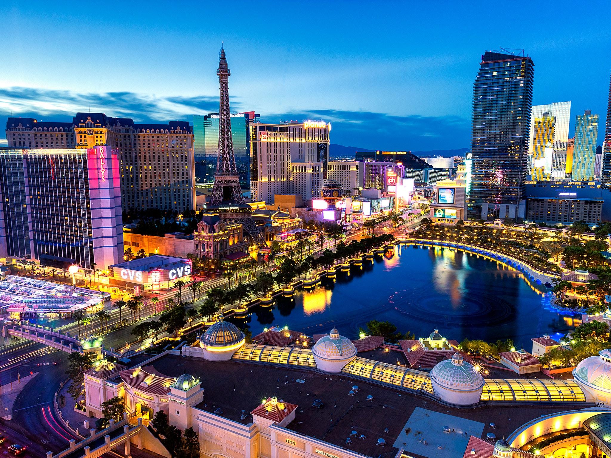 Las Vegas city view at night
