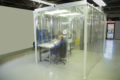 man working in a clean room