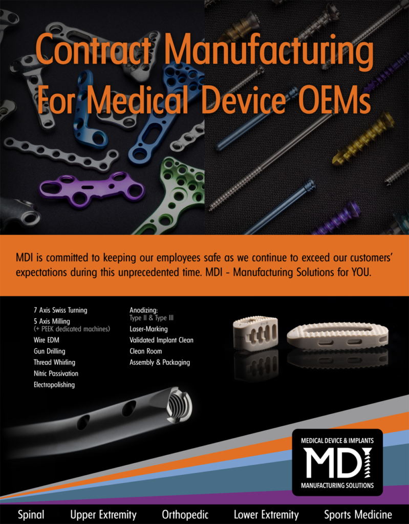 contract manufacturing for medical device OEMs ad flyer
